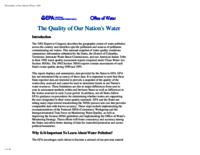 The Quality of Our Nation's Water(1992)