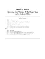 Knowing Our Waters: Tribal Reporting under Section 305(b)