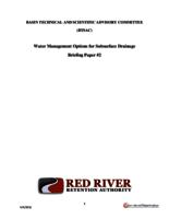 Water Management Options for Subsurface Drainage Briefing Paper #2
