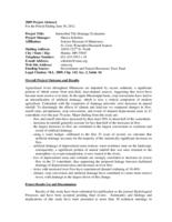 Intensified Tile Drainage Evaluation 2009 Project Abstract