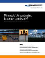 Minnesota's Groundwater - Is our use sustainable