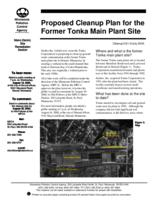Proposed Cleanup Plan for the Former Tonka Main Plant Site