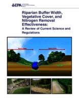 Riparian Buffer Width, Vegetative Cover, and Nitrogen Removal Effectiveness: A Review of Current Science and Regulations