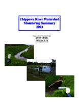 Chippewa River Watershed Monitoring Summary 2003