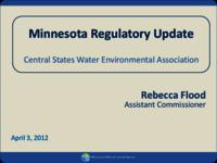 Minnesota Regulatory Update [Minnesota Pollution Control Agency] [Presentation]