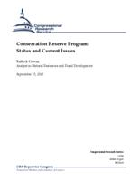 Conservation Reserve Program: Status and Current Issues