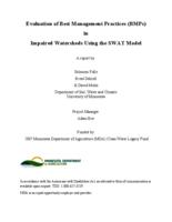 Evaluation of Best Management Practices (BMPs) in Impaired Watersheds Using the SWAT Model