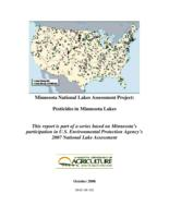 Minnesota National Lakes Assessment Project: Pesticides in Minnesota Lakes
