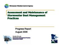 Assessment and Maintenance of Stormwater Best Management Practices [Presentation]