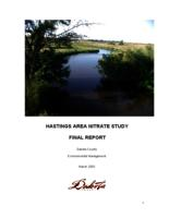 HASTINGS AREA NITRATE STUDY FINAL REPORT