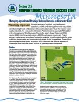 Minnesota: Clearwater River Managing Agricultural Drainage Reduces Bacteria in River