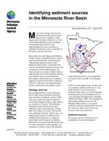 Identifying Sediment Sources in the Minnesota River Basin Summary