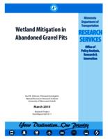 Wetland Mitigation in Abandoned Gravel Pits