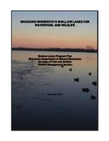 MANAGING MINNESOTA'S SHALLOW LAKES FOR WATERFOWL AND WILDLIFE [Minnesota Department of Natural Resources ]