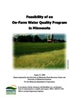 Feasibility of an On-Farm Water Quality Program in Minnesota