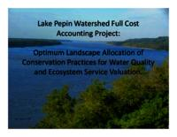 Lake Pepin Watershed Full Cost Accounting Project [Presentation]