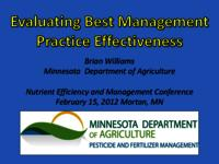 Evaluating Best Management Practice Effectiveness: Highway 90 Drainage Project [Presentation]