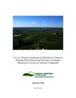 Use of a Triazine Immunoassay Method in a Volunteer Drinking Water Monitoring Network in Southeast Minnesota to Screen for Atrazine Compounds