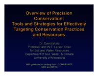 Overview of Precision Conservation: Tools and Strategies for Effectively Targeting Conservation Practices and Resources [Presentation]