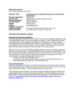 Emergency Delivery System Development for Disinfecting Ballast Water final report