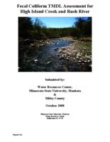 Fecal Coliform TMDL Assessment for High Island Creek and Rush River