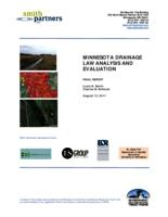 MINNESOTA DRAINAGE LAW ANALYSIS AND EVALUATION