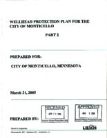Wellhead protection plan for the city of Monticello part 2