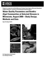 Water-Quality Parameters and Benthic Algal Communities at Selected Streams in Minnesota, August 2000—Study Design, Methods and Data