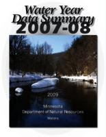 Water Year Data Summary 2007-2008