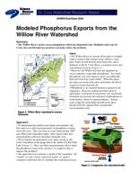 Modeled Phosphorus Exports from the Willow River Watershed