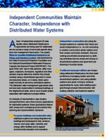 Independent Communities Maintain Character,  Independence with Distributed Water Systems