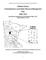 Wadena County Comprehensive Local Water Resource Management Plan 2006- 2016