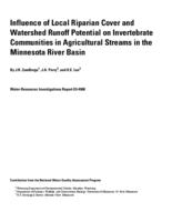 Influence of Local Riparian Cover and Watershed Runoff Potential on Invertebrate Communities in Agricultural Streams in the Minnesota River Basin