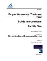 Empire wastewater treatment plant Solids Improvements Facility Plan
