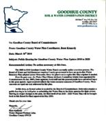 2010-2020 Goodhue County Comprehensive local water management plan