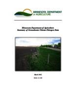 Minnesota Department of Agriculture Summary of Groundwater Nitrate-Nitrogen data