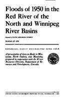 Floods of 1950 in the Red River of the North and Winnipeg River Basins