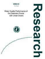Water Quality Performance of Dry Detention Ponds with Under-Drains