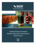 Long Range Planning for Decentralized Wastewater and Stormwater Treatment Research: Workshop and Synthesis Report