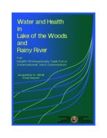 Water and health in lake of the Woods and Rainy River for Health professionals task force International Joint Commission