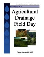 AGRICULTURAL DRAINAGE MANAGEMENT: EFFECTS ON WATER CONSERVATION, N LOSS AND CROP YIELDS