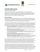 Wild Rice Sulfate Study: Summary and next steps [Minnesota Pollution Control Agency]