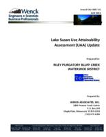Lake Susan Use Attainability Assessment (UAA) Update
