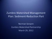 Zumbro Watershed Management Plan: Sediment-Reduction Part