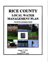 Rice County local water management plan: fourth generation