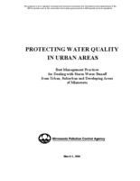 PROTECTING WATER QUALITY IN URBAN AREAS [Minnesota Pollution Control Agency]