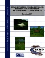 Repair Report for Judicial Ditch 4 and resource management plan (including Anoka County Ditch 15)