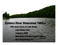 Zumbro River Watershed TMDLs [Presentation]