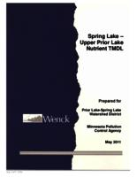Spring Lake – Upper Prior Lake Nutrient TMDL