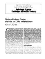 Modern Drainage Design: the Pros, the Cons, and the Future [Presentation]